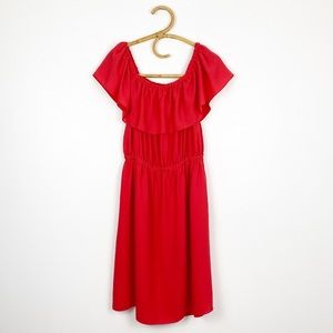 Aritzia | Wilfred | Red Hosta Dress L